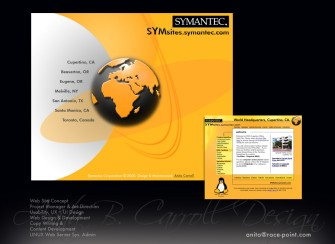 Web design, UX UI, Photography, Digital Image manipulation,Symantec Corporation, Anita B. Carroll, Race-Point.com