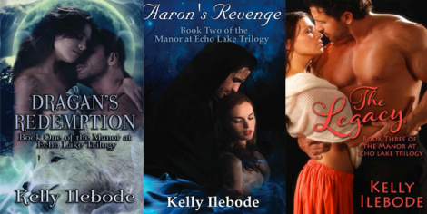 The Manor at Echo Lake Trilogy by Author Kelly Ilebode. Cover Design: Jimmy Thomas