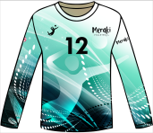 15 Meraki on sleeve, can switch with jersey number/other text