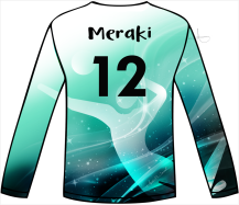 2019 MERAKI VOLLEYBALL GAME JERSEY DESIGN by Anita B. Carroll