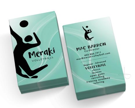 Business card Design for MERAKI VOLLEBALL