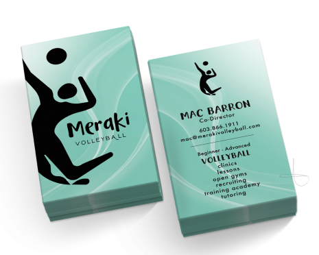 Business card Design for MERAKI VOLLEBALL